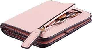 Womens Rfid Blocking Small Compact Bifold Luxury Genuine Leather Pocket Wallet Ladies..