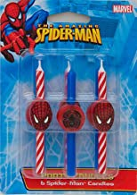 DecoPac 11745 Spider-Man Candles - 6 / BX (Original Version) (Original Version)