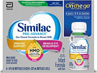 Similac Pro-Advance Non-GMO with 2'-FL HMO Infant Formula Ready-to-Feed, 192 Fl Oz