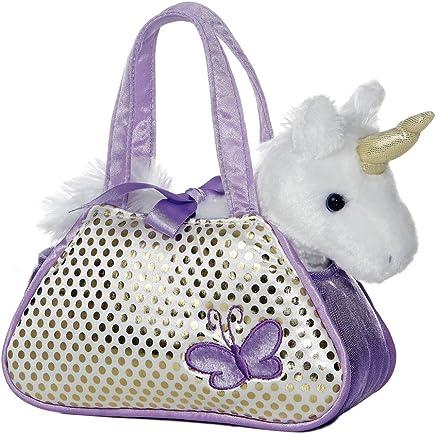 "Aurora Unicorn Fancy Pals Purse with 8"" Unicorn"