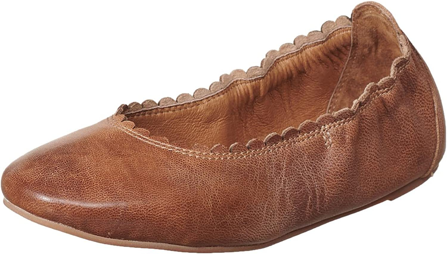 Antelope Women's 108 Leather Scalloped Ballet shoes