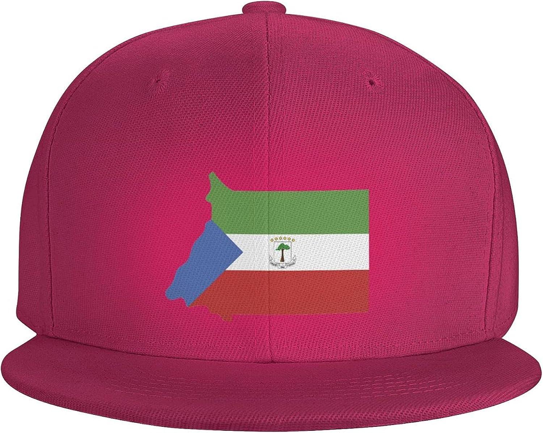 Equatorial Guinea Flag Country of Africa Flat Brim Baseball Hat Cowboy Hat Sun Hat Unisex