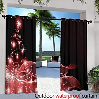 Lightly Outdoor Privacy Curtain for Pergola,Tattoo Art, Biomechanical Demons Over Grey Background, Sketch,W72 x L96 for Front Porch Covered Patio Gazebo Dock Beach Home