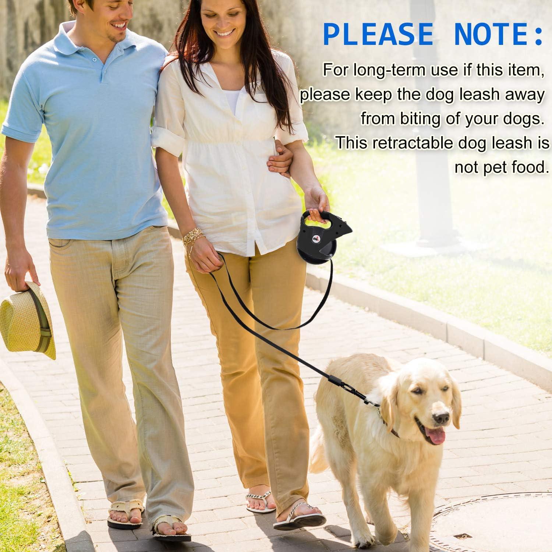 Plegable Comedero para perro Correa de Perro Retr/áctil Makife 5m Correa Retractable para Perros 80kg Negro 15pcs Bolsas de excrementos de perros