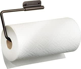 iDesign Forma Wall Mounted Metal Paper Towel Holder Swiveling Roll Organizer for Kitchen, Bathroom, Craft Room, Bronze