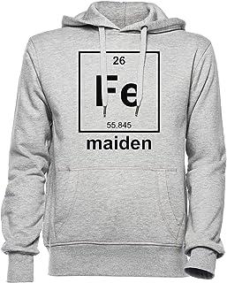 Iron Maiden Hombre Mujer Unisexo Sudadera con Capucha Gris Todos Los Tamaños - Women's Men's Unisex Hoodie Sweatshirt Grey