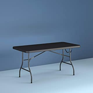 Centerfold 6 Foot Folding Table in Black