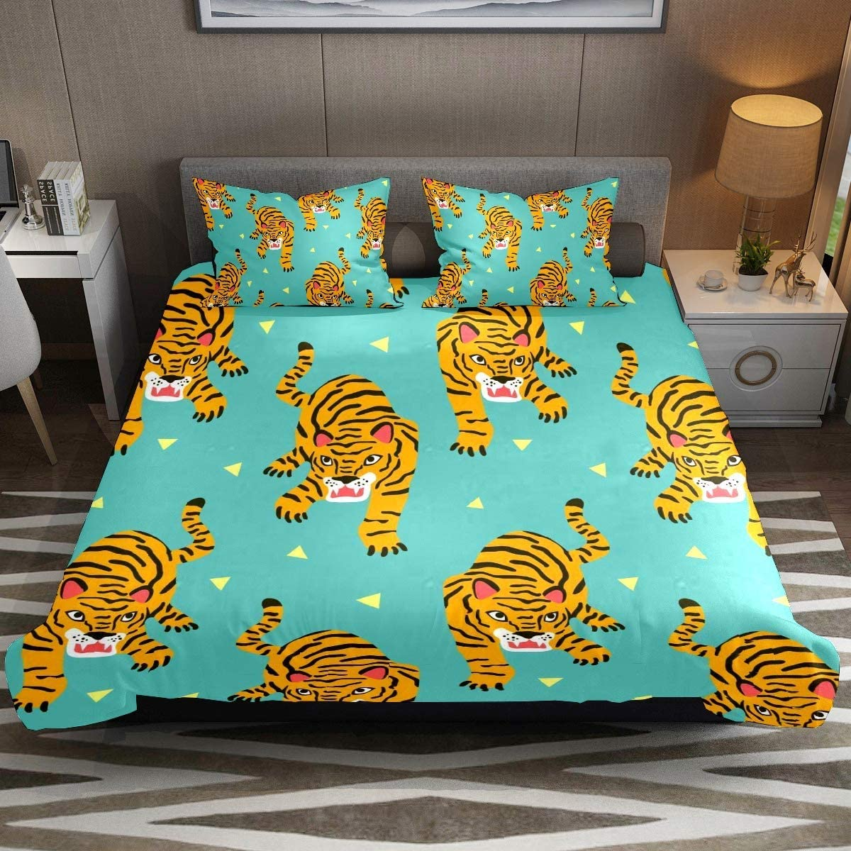 Three-Piece Bed Set Duvet Cover Pillow Outlet ☆ Super Special SALE held Free Shipping B Comfy Soft Stylish Case