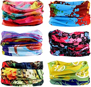 6PCS Outdoor Magic Headband Elastic Seamless Bandana Scarf UV Resistence Sport Headwear..