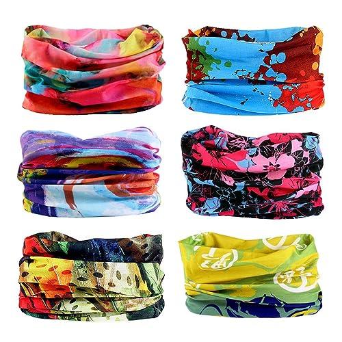 Toes Home 6PCS Outdoor Magic Headband Elastic Seamless Bandana Scarf UV  Resistence Sport Headwear e406a19b80a