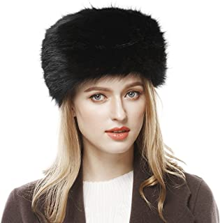 f0b377baca1bb Lovful Winter Women Faux Fur Russian Cossack Style Hat Winter Wrap Hat