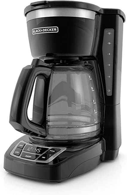 Black+Decker CM1160B-1 CM1160B 12-Cup Programmable Coffee Maker, Black/Stainless Steel