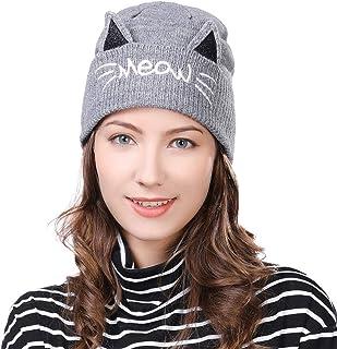 (シッギ) Siggi ウール 猫耳帽子 レディース ニット帽 秋冬 大きいサイズ 防寒 自転車 55-58cm