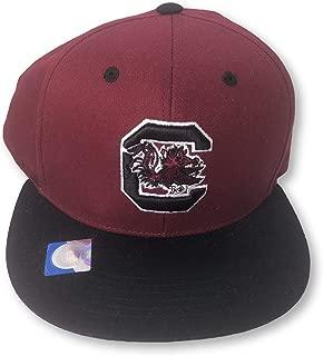 Collegiate Headwear South Carolina Gamecocks Flat Bill Adult Men's Snapback Cap Hat