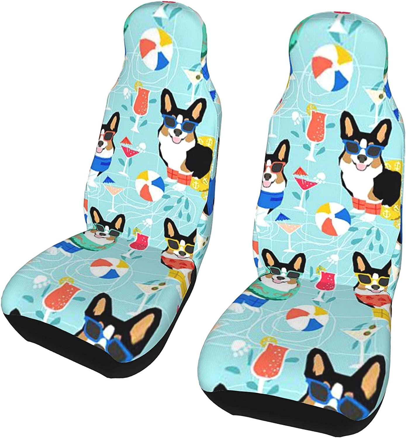 Outlet sale feature Augwinght Corgi Dog Sunglasses Swim Seat Covers Max 61% OFF Front Circle Car