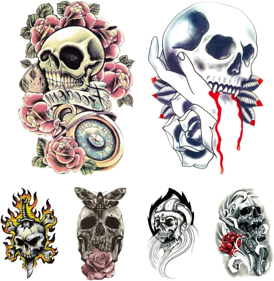 Halloween Portland Mall Home Decorations 6pcs- Skulls low-pricing Friendly Water Stickers