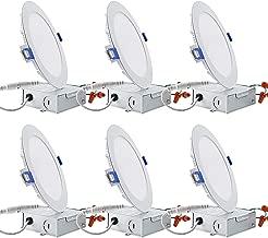 12W 15,2cm hassas Gömme Lamba Tavan Lambası Junction Box, ayarlanabilir can-Katil hava geçirmez Gömme Lamba, B22, 100W ETL-Listed ve ENERGY STAR sertifikalı, 4000K soğuk beyaz, 6adet