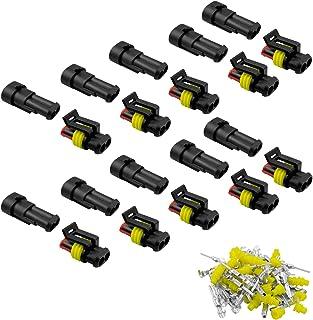 HUACAM 10 TLG 2 Poliger Stecker Steckverbinder Wasserdicht Schnellverbinder IP67 AMP PA66 Nylon Steckdose Set für KFZ LKW Auto Kayak Boote Roller Motorrad