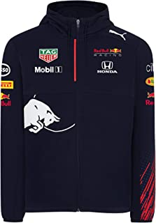 Red Bull Racing Official Teamline Zip Felpa con Cappuccio, Uomini - Official Merchandise