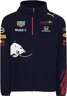 Red Bull Racing Official Teamline Zip Felpa con Cappuccio, Uomini - Official Merchandise