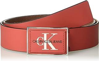 Calvin Klein mens 75623 38mm Plaque Logo Belt Belt