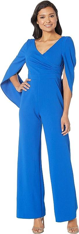 96c4058ce09 Adrianna Papell. One Shoulder Jumpsuit.  132.99MSRP   189.00. Knit Cape  Back Jumpsuit