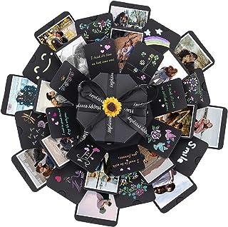 ZEEYUAN Explosion Box,Creative DIY Álbum de Fotos Caja de Regalo de Explosión Creativa como Regalo de Cumpleaños Aniversar...
