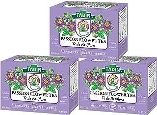 3 PACK Tadin Tea, Pasiflora - Passion Flower Tea, 72 Tea Bags - Relax Mind Muscle Pasiflora