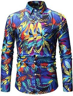 Men Printed Shirt Casual Slim Long Sleeve Shirt Fashion Joker Business Shirt