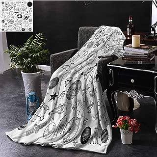 EDZEL Plush Throw Blankets Boys Planets Asteroids Cosmos All Season Blanket 80x60 Inch