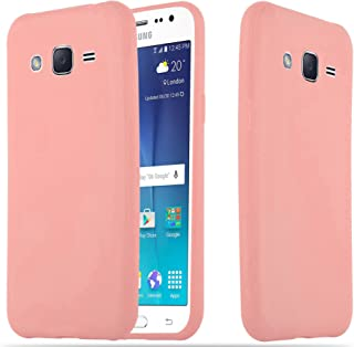 Cadorabo Case Works with Samsung Galaxy A5 2015 in Candy Pink – Shockproof and Scratch Resistant TPU Silicone Cover – Ultra Slim Protective Gel Shell Bumper Back Skin