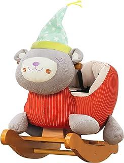 Labebe Bebé Mecedora Madera, Mecedora Felpa, Juguete Caballo Mecedora Rosa Unicornio para bebé 1-12 años, Columpio Bebé/Caballo Mecedora/Oscilación y jardín/Oscilación Rosa/Bear…