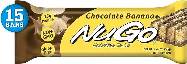 NuGo Protein Bar, Chocolate Banana, 15g Protein, 190 Calories, Gluten Free, 15 Count