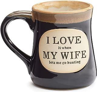 1 X Love it When my Wife Lets Me go Hunting Coffee Tea Mug Cup 18oz Gift Box