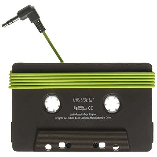E FILLIATE AUX in Cassette Adapter for Universal Smartphones - Gray/Green