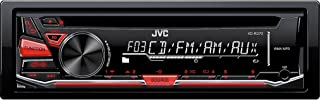 JVC KD-R370 Single DIN In-Dash CD/AM/FM/ Receiver with Detachable Faceplate,black