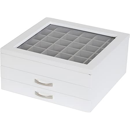 Jewelry Box UCAGCO White Marble lidded Dresser Box Vanity Box Made In Italy 5 34 x 4