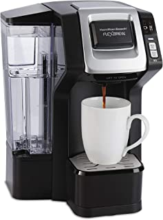 Hamilton Beach 49975 FlexBrew Single Serve Maker with 40 oz. Reservoir, Compatible with K-Cup Packs or Ground Coffee, 3 Brewing Sizes, Black
