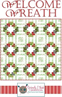 "Welcome Wreath Quilt Pattern by Kelli Fannin Quilt Designs from Seriously I Think it Needs Stitches KFQP125-72"" x 72"""