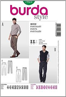 Burda Menswear Sewing Pattern 7022 - Pants Sizes: 34-50 Man