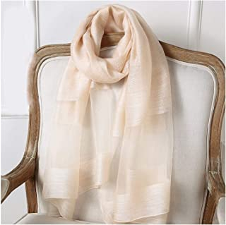 Silk Scarf Women Summer Silk Scarf Sunscreen Lightweight Shawl,Perfect Accent to Any Outfit (Color : 07, Size : 200x90cm)