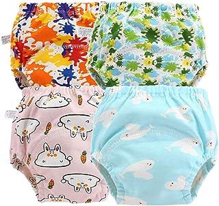 Morbuy-Shop, Pantalones de Entrenamiento para Bebé, Morbuy Reusable Calzones de Entrenamiento Ropa Interior de Entrenamiento Bragas de Aprendizaje para Niño Niña, 6-36 Meses, 4 Piezas