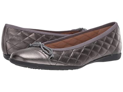 French Sole PassportR Flat (Pewter Metallic) Women