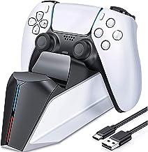 Carregador do controlador PS5, estação de carregamento PS5 para controlador dualsense Playstation 5, atualização TwiHill e...