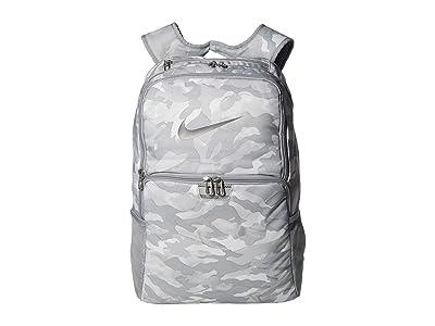 Nike Brasilia XL All Over Print Backpack 9.0 (Light Smoke Grey/Metallic Cool Grey) Backpack Bags