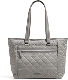 Vera Bradley Women's Performance Twill Work Tote Totes, Tranquil Gray, One Size