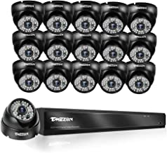 TMEZON 32CH HD 1080p AHD DVR Security System, QR-Code Connection, 16 Day Night 2.0MP High Resolution Weatherproof Dome Cam...