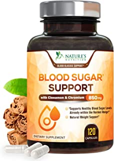 Blood Sugar Support Extra Strength Glucose Metabolism Supplement - 20 Herbs & Vitamin Blend - Made in USA - Best Vegan Com...
