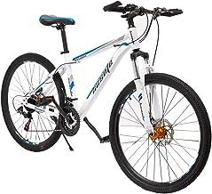 دوچرخه کوهی دوچرخه کوهستانی 26 اینچ استیل کربنی با قاب 17 اینچ ، دوچرخه ترمز دیسک دو سرعته 21 مگا سیتی برای بزرگسالان و نوجوانان Stock سهام ایالات متحده
