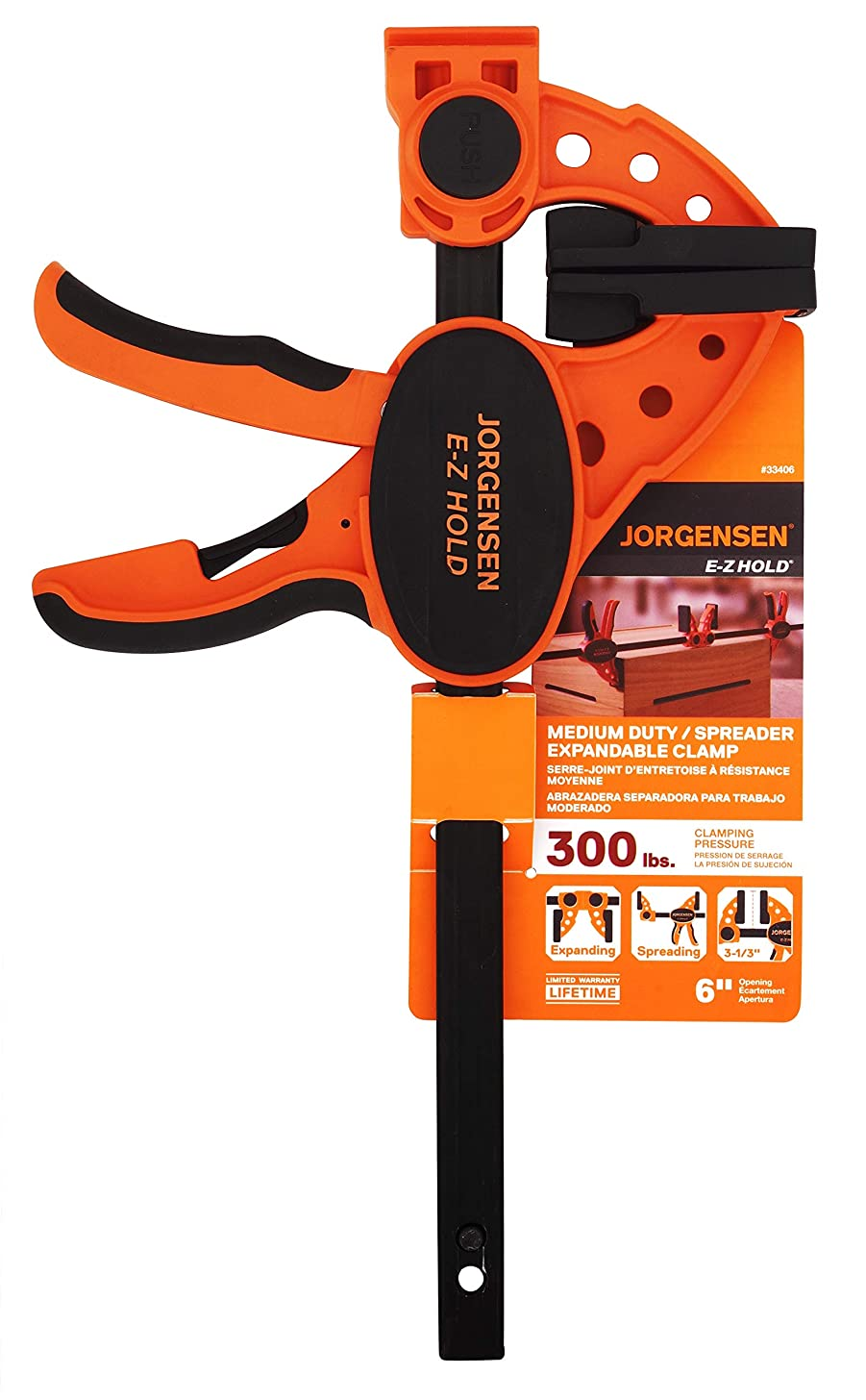 Jorgensen 33406 ISD-3 6-Inch One-Handed Clamp